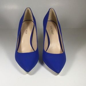Nine west blue pointed toes heels size 81/2